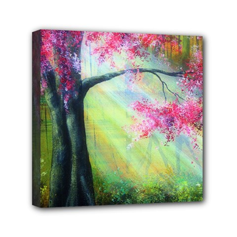 Forests Stunning Glimmer Paintings Sunlight Blooms Plants Love Seasons Traditional Art Flowers Sunsh Mini Canvas 6  X 6
