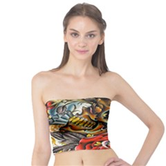 Flower Art Traditional Tube Top by BangZart