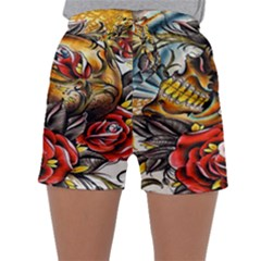 Flower Art Traditional Sleepwear Shorts