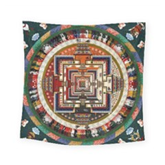 Colorful Mandala Square Tapestry (small)