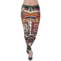 Colorful Mandala Velvet Leggings