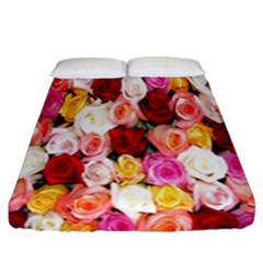 Rose Color Beautiful Flowers Fitted Sheet (california King Size) by BangZart