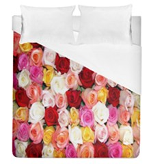 Rose Color Beautiful Flowers Duvet Cover (queen Size) by BangZart