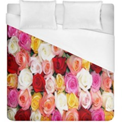 Rose Color Beautiful Flowers Duvet Cover (king Size) by BangZart