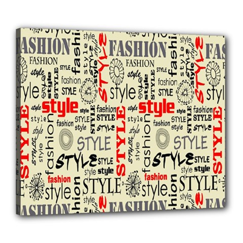 Backdrop Style With Texture And Typography Fashion Style Canvas 24  X 20