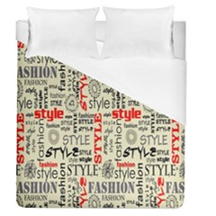Backdrop Style With Texture And Typography Fashion Style Duvet Cover (queen Size)