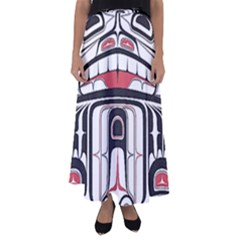 Ethnic Traditional Art Flared Maxi Skirt