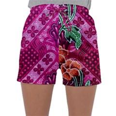 Pink Batik Cloth Fabric Sleepwear Shorts