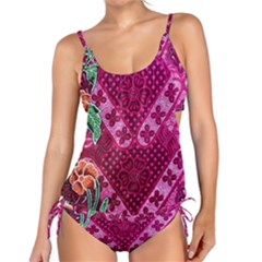 Pink Batik Cloth Fabric Tankini Set