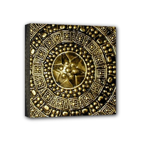 Gold Roman Shield Costume Mini Canvas 4  X 4