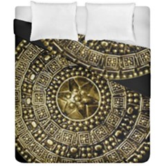 Gold Roman Shield Costume Duvet Cover Double Side (california King Size)
