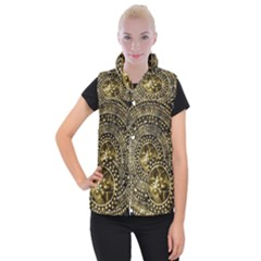 Gold Roman Shield Costume Women s Button Up Puffer Vest