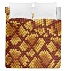 Snake Skin Pattern Vector Duvet Cover Double Side (queen Size)