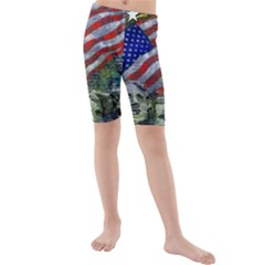 Usa United States Of America Images Independence Day Kids  Mid Length Swim Shorts by BangZart