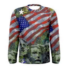 Usa United States Of America Images Independence Day Men s Long Sleeve Tee by BangZart