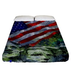 Usa United States Of America Images Independence Day Fitted Sheet (queen Size)