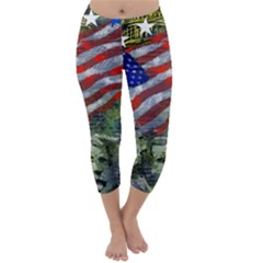 Usa United States Of America Images Independence Day Capri Winter Leggings  by BangZart