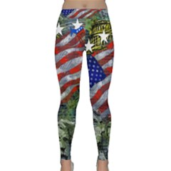 Usa United States Of America Images Independence Day Classic Yoga Leggings by BangZart