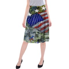 Usa United States Of America Images Independence Day Midi Beach Skirt