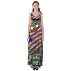 Usa United States Of America Images Independence Day Empire Waist Maxi Dress