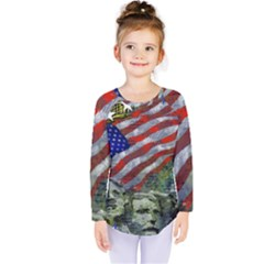 Usa United States Of America Images Independence Day Kids  Long Sleeve Tee