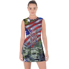 Usa United States Of America Images Independence Day Lace Up Front Bodycon Dress by BangZart