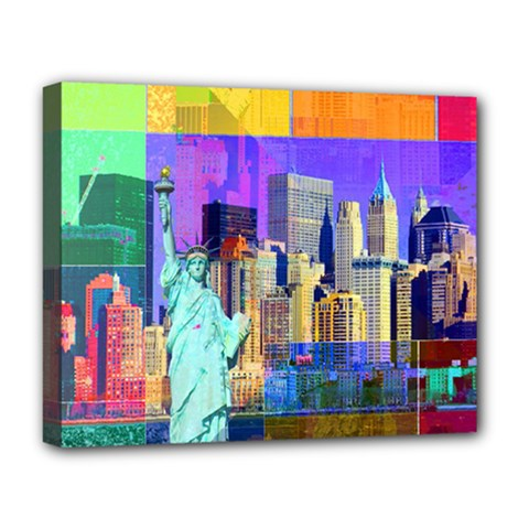 New York City The Statue Of Liberty Deluxe Canvas 20  X 16
