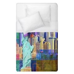 New York City The Statue Of Liberty Duvet Cover (single Size)