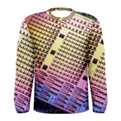 Optics Electronics Machine Technology Circuit Electronic Computer Technics Detail Psychedelic Abstra Men s Long Sleeve Tee
