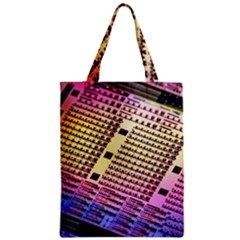 Optics Electronics Machine Technology Circuit Electronic Computer Technics Detail Psychedelic Abstra Zipper Classic Tote Bag