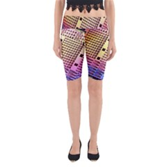Optics Electronics Machine Technology Circuit Electronic Computer Technics Detail Psychedelic Abstra Yoga Cropped Leggings