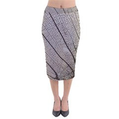 Sea Fan Coral Intricate Patterns Velvet Midi Pencil Skirt by BangZart