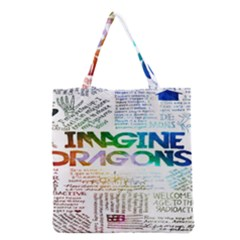 Imagine Dragons Quotes Grocery Tote Bag