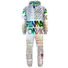 Imagine Dragons Quotes Hooded Jumpsuit (men)