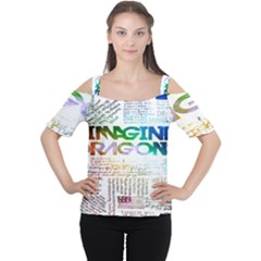 Imagine Dragons Quotes Cutout Shoulder Tee