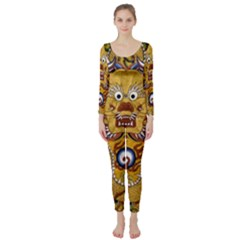Chinese Dragon Pattern Long Sleeve Catsuit