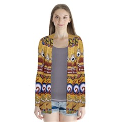 Chinese Dragon Pattern Drape Collar Cardigan by BangZart