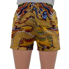 Chinese Dragon Pattern Sleepwear Shorts by BangZart