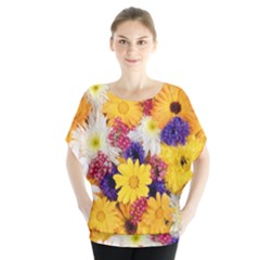 Colorful Flowers Pattern Blouse