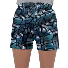Old Spiderwebs On An Abstract Glass Sleepwear Shorts