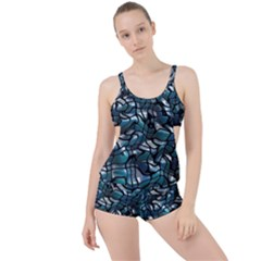 Old Spiderwebs On An Abstract Glass Boyleg Tankini Set  by BangZart