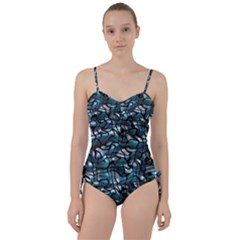 Old Spiderwebs On An Abstract Glass Sweetheart Tankini Set