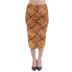 Vector Square Texture Pattern Midi Pencil Skirt