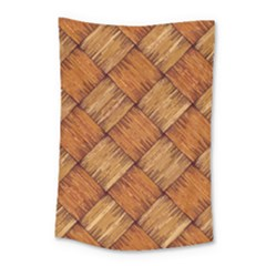 Vector Square Texture Pattern Small Tapestry