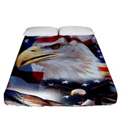 United States Of America Images Independence Day Fitted Sheet (queen Size)
