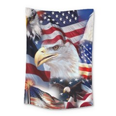 United States Of America Images Independence Day Small Tapestry by BangZart