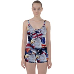 United States Of America Images Independence Day Tie Front Two Piece Tankini