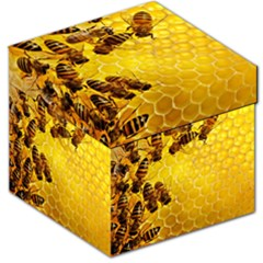 Honey Honeycomb Storage Stool 12
