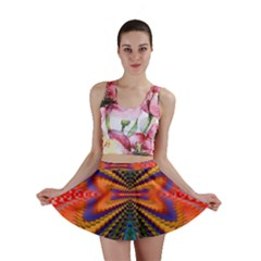 Casanova Abstract Art Colors Cool Druffix Flower Freaky Trippy Mini Skirt