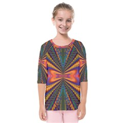 Casanova Abstract Art Colors Cool Druffix Flower Freaky Trippy Kids  Quarter Sleeve Raglan Tee